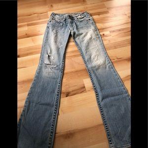 Big Star jeans size 26 distressed